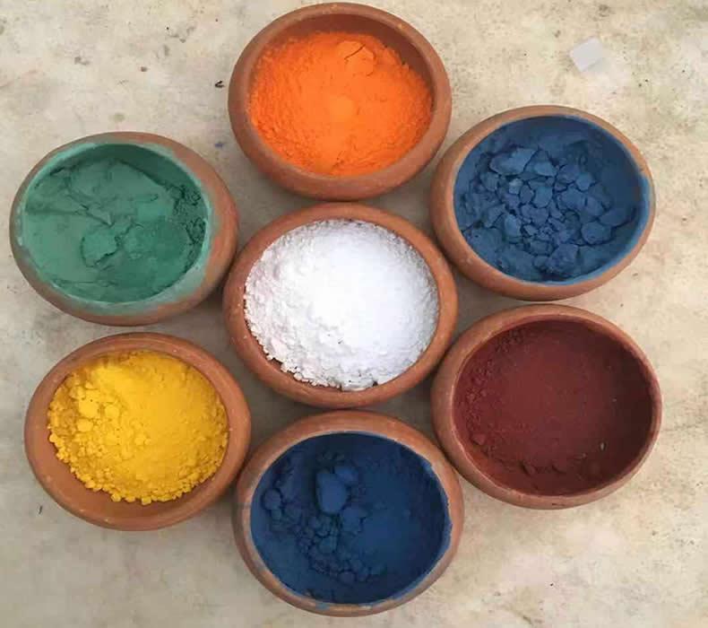 tangkas avec des pigments naturels