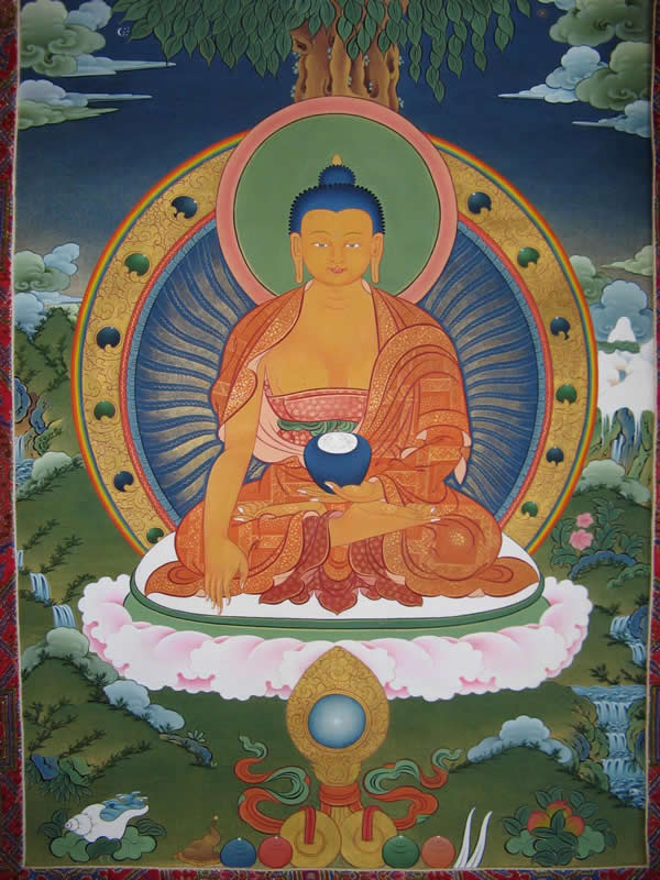 thangka bouddha tibetain