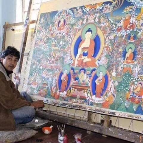 renchin dorjee peintre tibetain